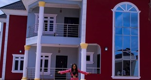 Single Mom, Mercy Aigbe Shows Off Her Newly Acquired Mansion (Photos)