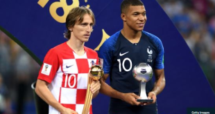 Modric Wins Golden Ball, Mbappe Named Best Young Player Of The Tournament
