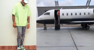 "Another View Of ""Air OBO"" Davido's New Private Jet"