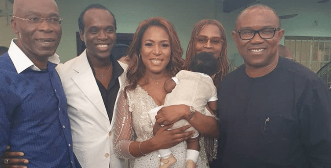 Linda Ikeji Celebrates Her Son's Thanksgiving In Church With Billionaires (See Photos)