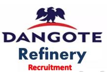 Dangote Petroleum Refinery Recruitment 2021, Careers & Job Vacancies (16 Positions)