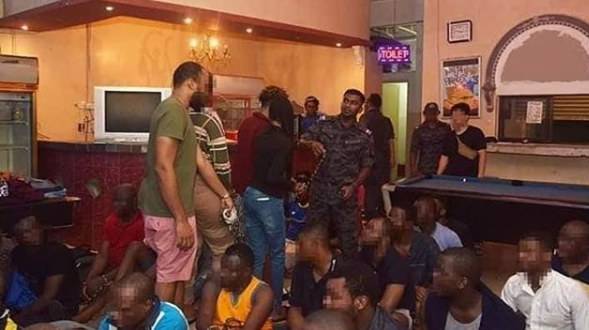 Photos: Nigerians arrested in Malaysia for Fraud