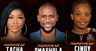 #BBNaija Omashola, Tacha, Cindy, Elozonam Nominated For Next Eviction