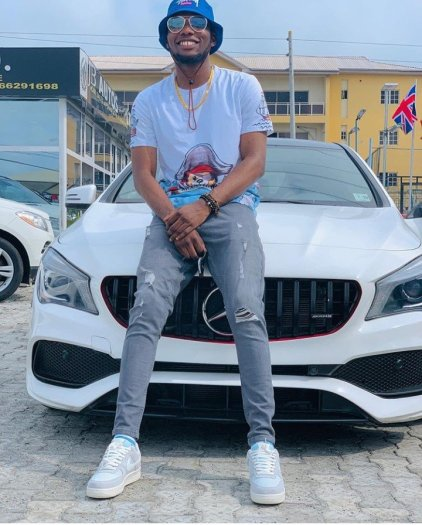 Victor AD Finally Buys a Mercedes Benz Worth 20Million Naira