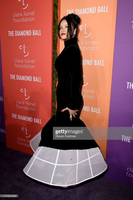 Rihanna at 5th annual Diamond Ball, Prove She's Not Pregnant (Photos)