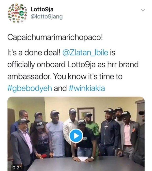 Zlatan Ibile Bags a MultiMillion Naira Endorsement Deal With Lotto9ja