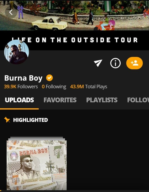 Burna Boy Sets New Records on Audiomack Ahead of Wizkid and Davido