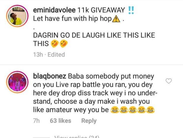 Choose a Day Make I Teach You Rap – Blaqbonez to Davolee