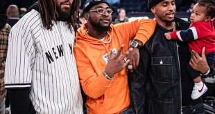 Davido Pictured With Trey Songs and J Cole at the Games (SEE PHOTOS)