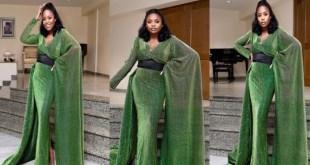 Stunning new photos of VP Osinbanjo's daughter, Kiki in Green