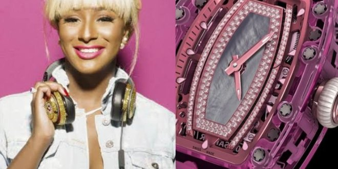 DJ Cuppy Reveals the N352M Richardmille Wrist Watch She Wants For Christmas