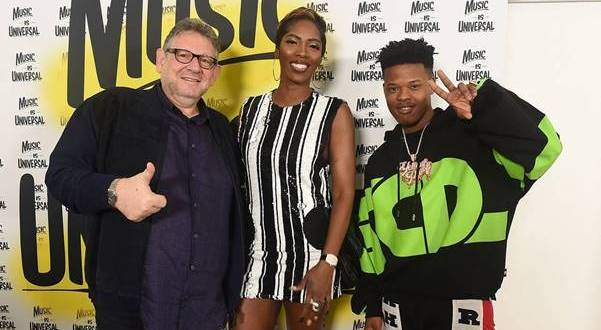 Photo Caption Universal Music Group Chief, Sir Lucian Grainge; Nigeria's Afrobeats Queen, Tiwa Savage & South African rapper, Nasty C.