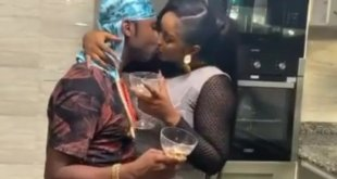 Rapper Speed Darlington caught on camera kissing a thick girl on set (PHOTOS)