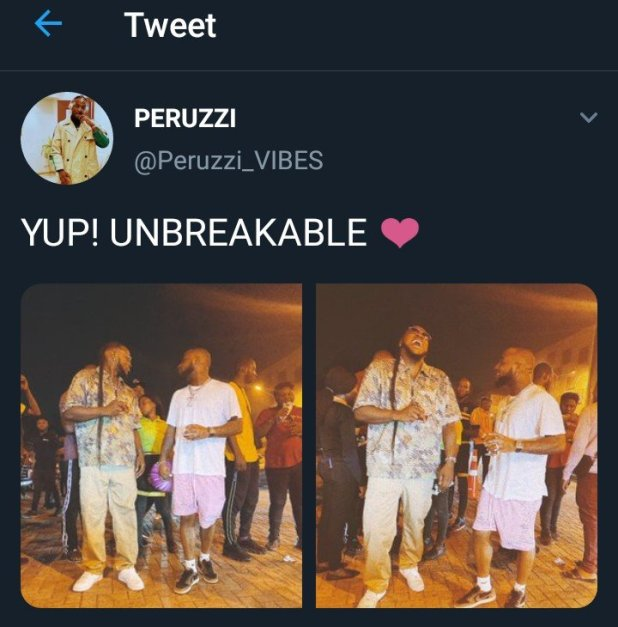 'My relationship with Davido and DMW is unbreakable' – Peruzzi