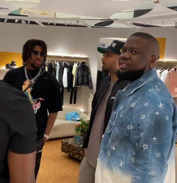 Everton forward Alex Iwobi hangs out with HushPuppi (VIDEO)