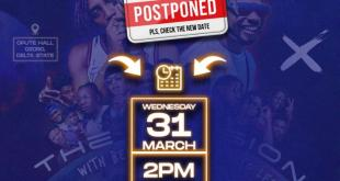 """The Invasion"" Which Features Bella Shmurda, Pocolee, Graham D and Others - Postponement Notice"