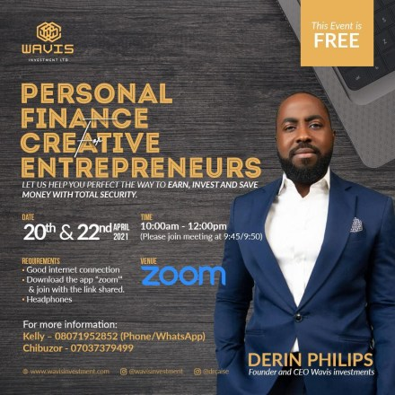 Financial Expert, Derin Phillips Empowers Young Africans In Financial Freedom Masterclass For Creative Entrepreneurs