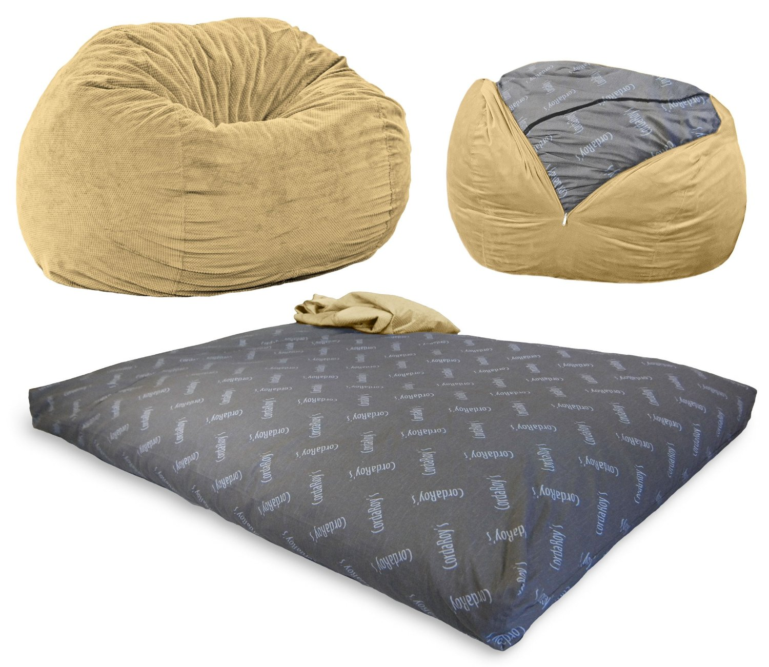 two person bean bag chair menards outside cushions convertible that turns into mattress