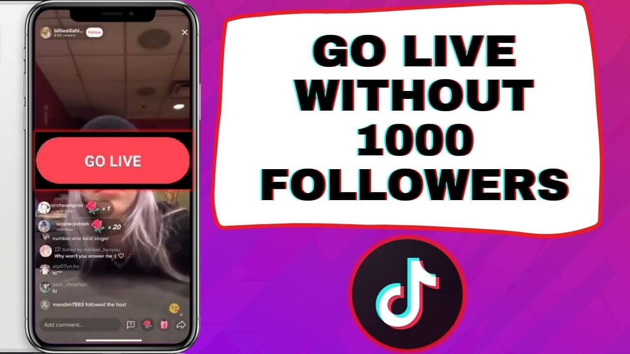 how to go live on tiktok without 1000 followers