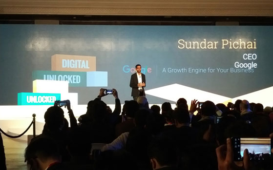 Google CEO Sundar Pichai announces Digital Unlocked for SMBs