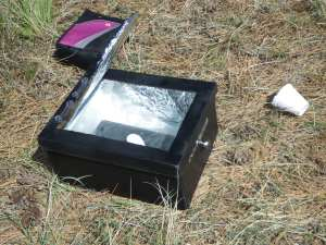 Our solar oven. The Weenie Roaster 3000