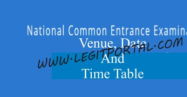 National Common Entrance Exam