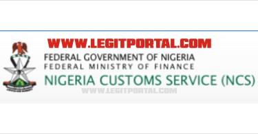 Nigeria Custom Service Recruitment 2019