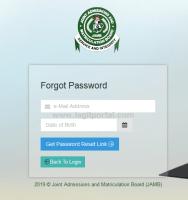JAMB forgot password reset