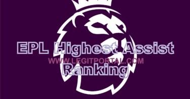 EPL highest Assist