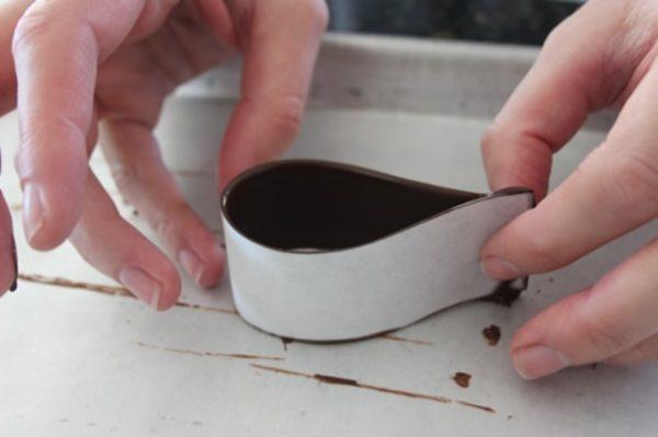 a csokoládé hurok összehajtása