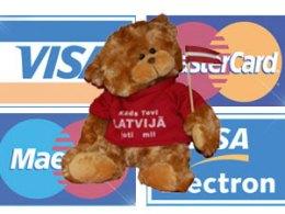 За 2012 год по банковским картам из других странах в Латвии было потрачено 384 млн. EUR.