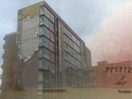 Ураган оторвал фасад с Purvciema projekts
