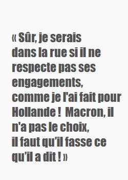Déclaration le soir de la victoire du candidat Macron