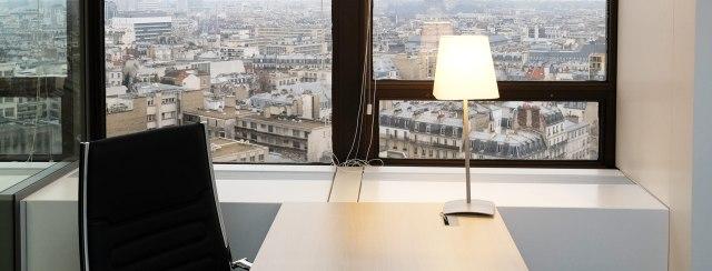 Vue depuis l'Espace M au 13eme étage de la Tour Montparnasse
