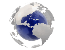Le globe symbole du Glob-journal en Mayenne