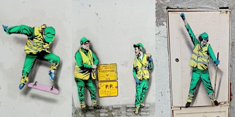 Petites peintures de rue Gilets Jaunes