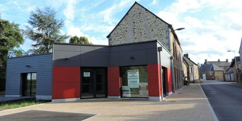 La vue globale du restaurant qui cherche preneur à Colombiers-du-Plessis en Mayenne