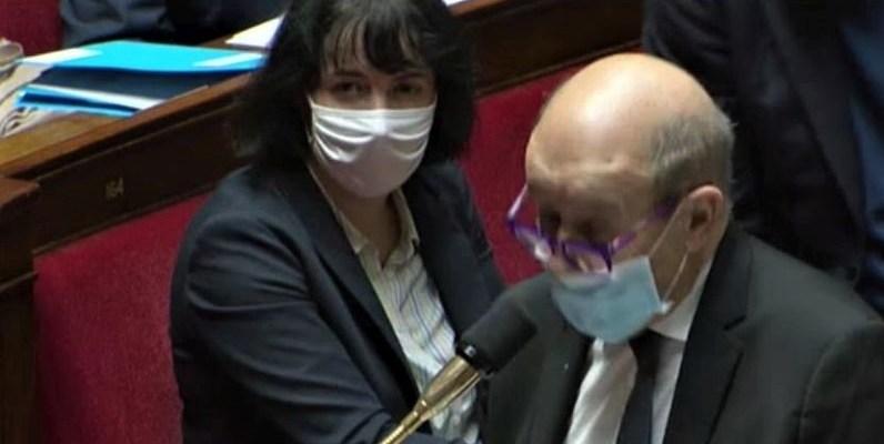 Géraldine Bannier dans l'hémicycle de l'Assemblée Natiorale