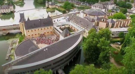 Une aérienne de la ville de La Flèche, en Sarthe