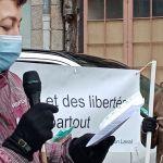 prise de parole devant le palais de Justice de Laval en Mayenne