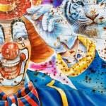 L'emblème du cirque, le clown avec son gros nez rouge