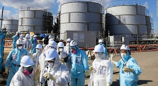 Dans la centrale de Fukushima au Japon