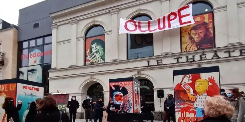 L'occupation du Théâtre de Laval en Mayenne