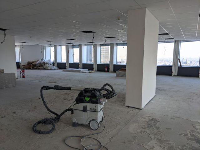 L'espace du Nouvel Espace M en devenir dans le Héron Building