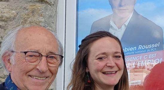 Les deux co scrétaires du PCF en Mayenne