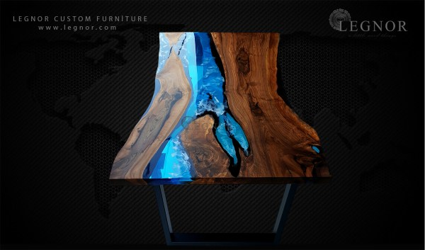 blue resin table