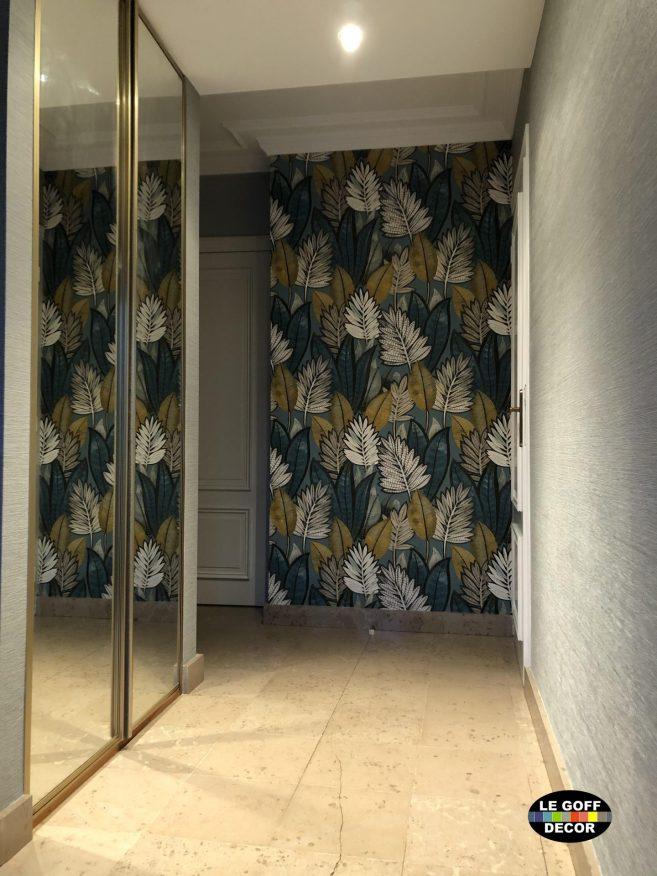pose papier casamance peint dans une entrée