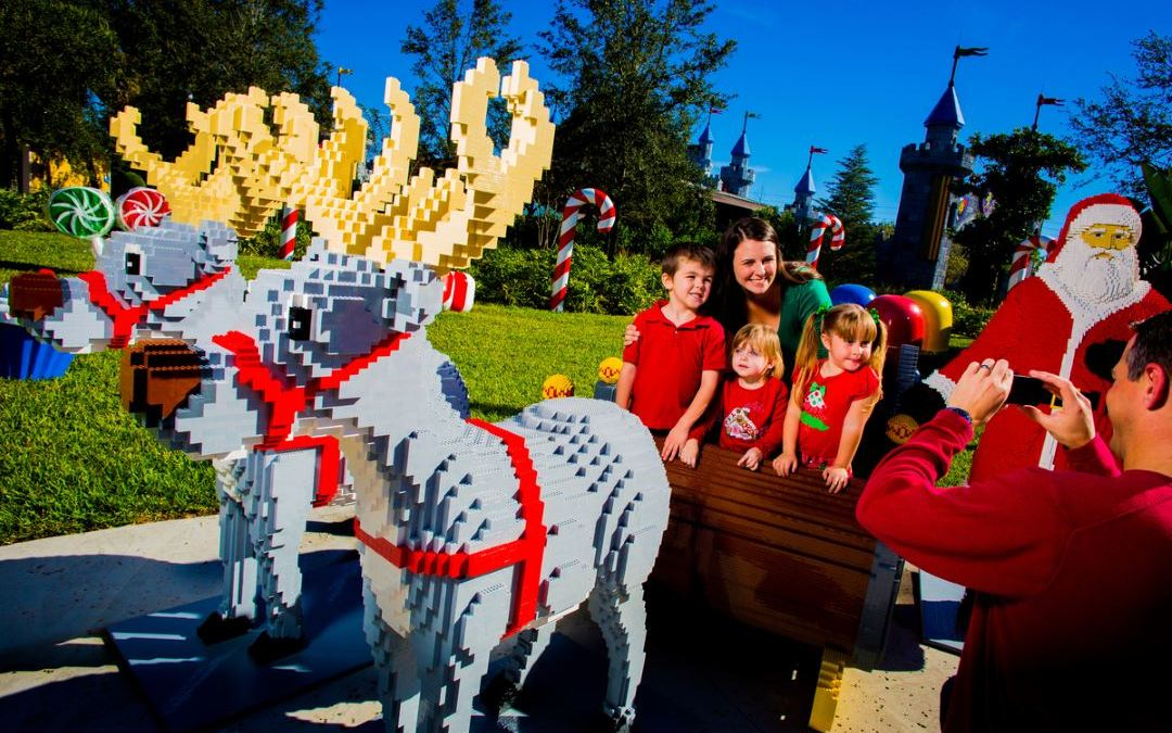 LEGOLAND Florida Resort Christmas Bricktacular Celebration with Holiday Fireworks