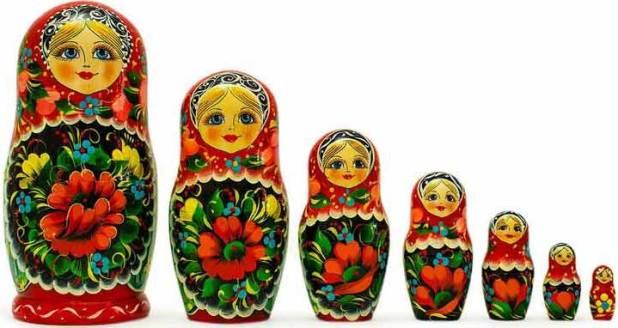 """الدمى الروسية المعروفة باسم """" ماتريوشكا """""""