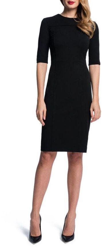anatomy of a black sheath dress